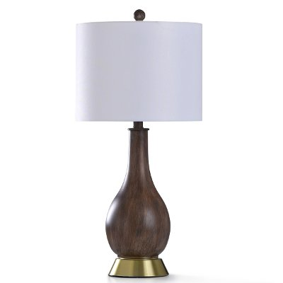 Brown Wood-Look Table Lamp - Roanoke
