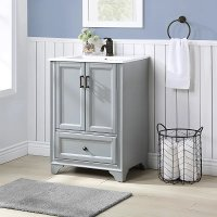 24 Inch Gray Bathroom Vanity With Sink Tara Rc Willey Furniture Store