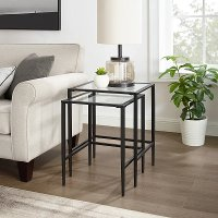 CF1331-MB Black Nesting Table Set - Ashton