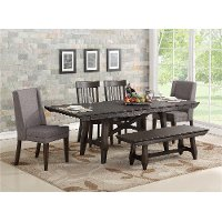 Rustic Brown 5 Piece Dining Room Set - Northern Hawk