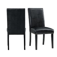Black Upholstered Dining Room Chair - Nadia