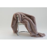 Rose Pink Faux Fur Chinchilla Throw Blanket