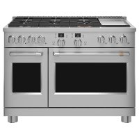 C2Y486P2TS1 Cafe Commercial Style Dual Fuel Double Oven Smart Range - 48 Inch Stainless Steel