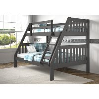 Classic Gray Twin over Full Bunk Bed - Mission