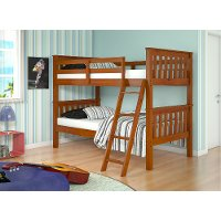 Espresso Brown Twin over Twin Bunk Bed - Arts & Crafts