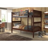 Dark Cappuccino Brown Twin-over-Twin Bunk Bed - Craftsman
