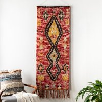 DRH-1000 Pink and Mustard Global Woven Wall Hanging - Dirham