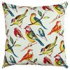 22 Inch Multi Brights Bird Indoor-Outdoor Throw Pillow