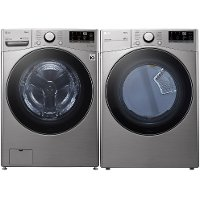 KIT LG Graphite Steel Electric Laundry Pair - 3600