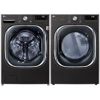 KIT LG Black Steel Electric Washer and Dryer Pair - 4500