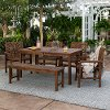 OW6DGVINDB 6 Piece Dark Brown Traditional Patio Dining Set