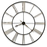 Postema 49 Inch Iron Black and Gold Wall Clock