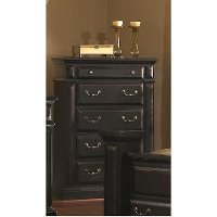 Rustic Classic Black Chest of Drawers - Torreon