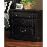 Black Traditional Nightstand Passages