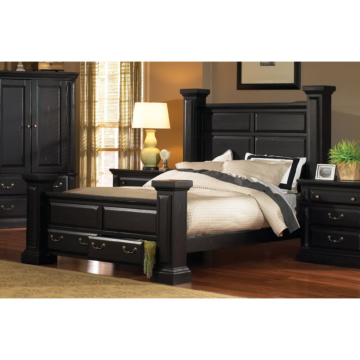 black bedroom furniture sets king | Torreon Black 6-Piece King Bedroom Set | RC Willey ...
