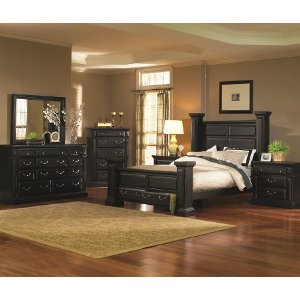 Torreon Black 6-Piece King Bedroom Set | RC Willey Furniture Store