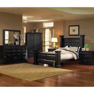 ... Black Classic 6 Piece California King Bed Bedroom Set   Torreon ...