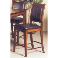 Brown Upholstered 24 Inch Counter Height Stool - Jacob