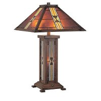 Dark Bronze Tiffany Table Lamp