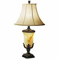 Garden Blossom Faux Alabaster Table Lamp
