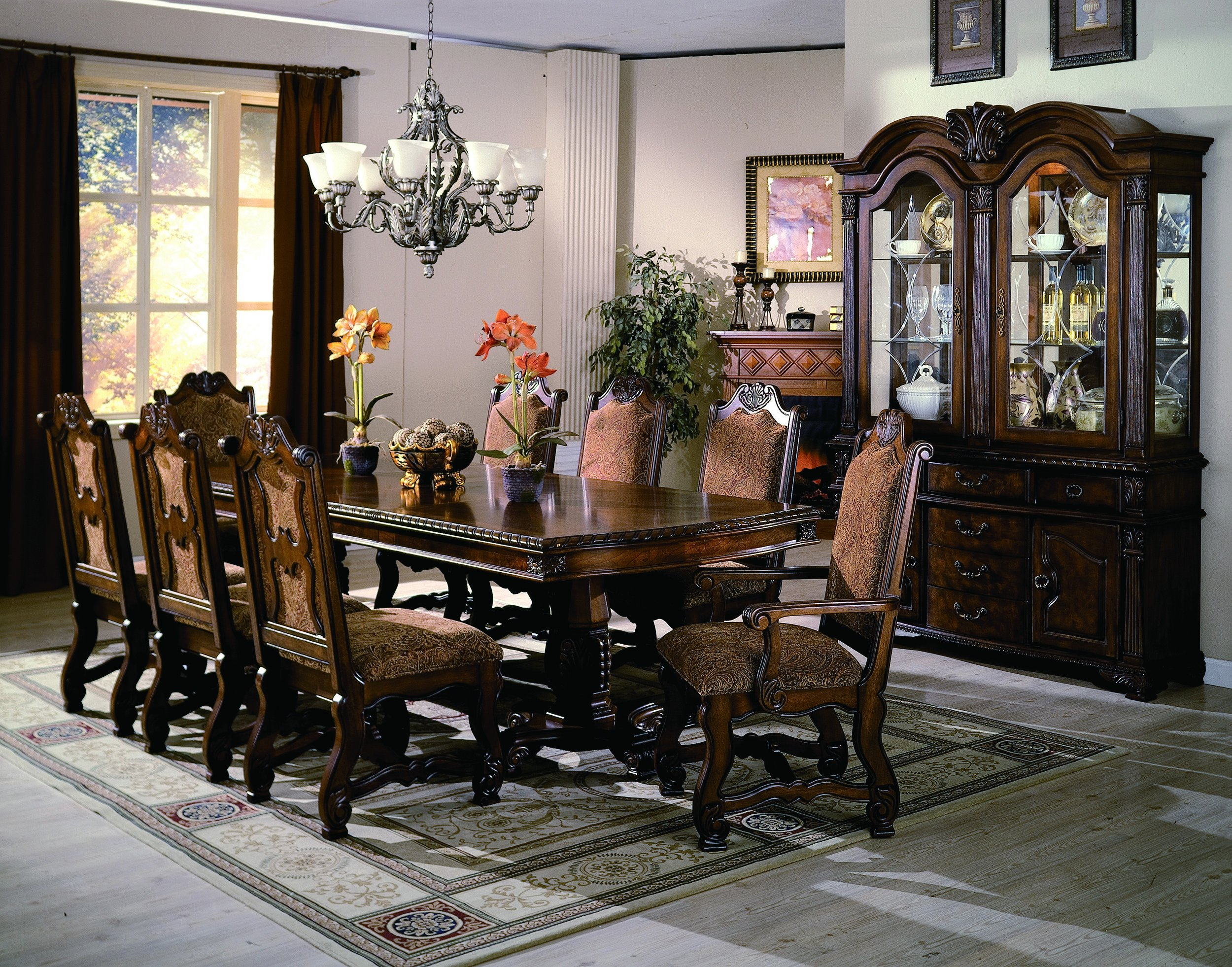 Traditional Dining Room Tables 7 piece dining set - traditional neo renaissance | rc willey