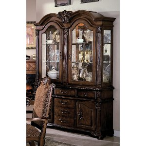 Traditional Neo Renaissance Cherry Buffet And Hutch ...