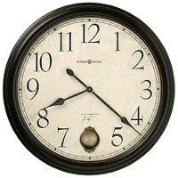 Glenwood Falls Black Satin Wall Clock