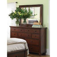 Classic Brown Cherry Dresser - Cambridge