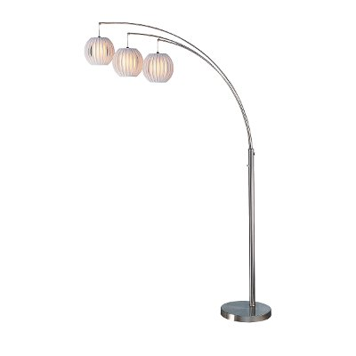 Brushed Steel 3 Arm Arc Floor Lamp RC Willey Furniture Store