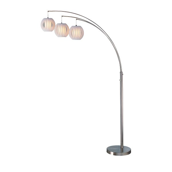 Rc willey sells floor lamps and floor lights brushed steel 3 arm arc floor lamp aloadofball Image collections