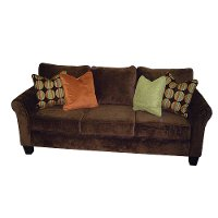 "84"" Chocolate Microfiber Sofa Sleeper"