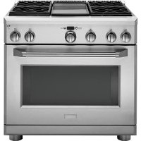 ZDP364NDPSS GE Monogram 36 Inch Dual-fuel Professional Range - Stainless Steel