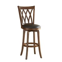 4975-828 Brown and Black 24 Inch Swivel Counter Height Stool