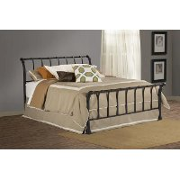 1671BKR Black King Metal Bed - Janis
