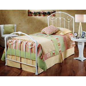 325btwr white cottage style twin metal bed maddie - White Metal Bed Frame Twin