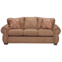 Spice Brown Casual Traditional Sofa - Southport