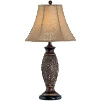 Dark Bronze Jacquard Table Lamp