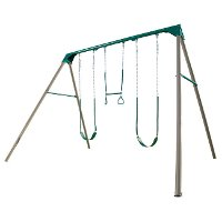 290038 Lifetime Products Heavy-Duty Three-Station Metal Swing Set