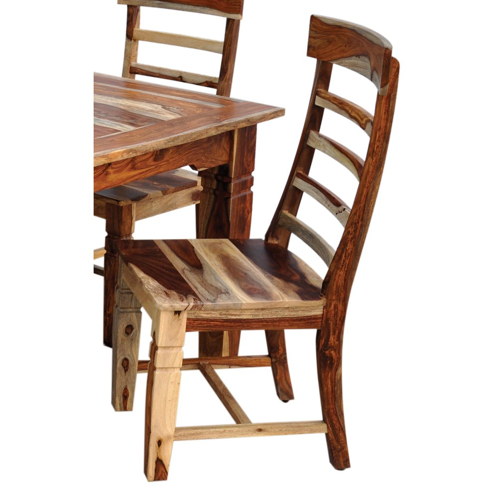 ... Natural Sheesham Wood Dining Room Chair   Tahoe Collection
