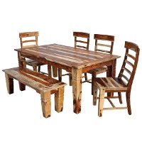 5 Piece Dining Set - Rustic Tahoe Natural