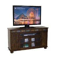 62 Inch Chocolate Brown TV Stand - Santa Fe