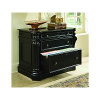 Cherry Black 2 Drawer Lateral File Cabinet - Telluride Collection