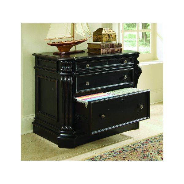 ... Cherry Black Lateral File Cabinet   Telluride Collection