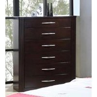 Contemporary Merlot Chest of Drawers - Millan