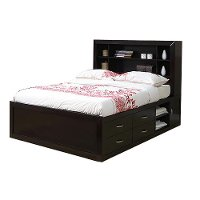 Merlot Contemporary Twin Storage Bed - Milan