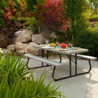 22119 Lifetime Products 6 ft. Folding Picnic Table