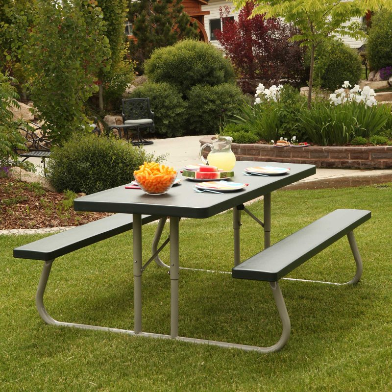 Lifetime 6 Foot Folding Picnic Table Green