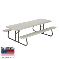 80123 Lifetime 8 Foot Folding Picnic Table Putty
