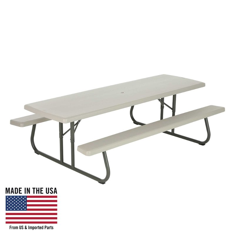 Lifetime 8 Foot Folding Picnic Table Putty