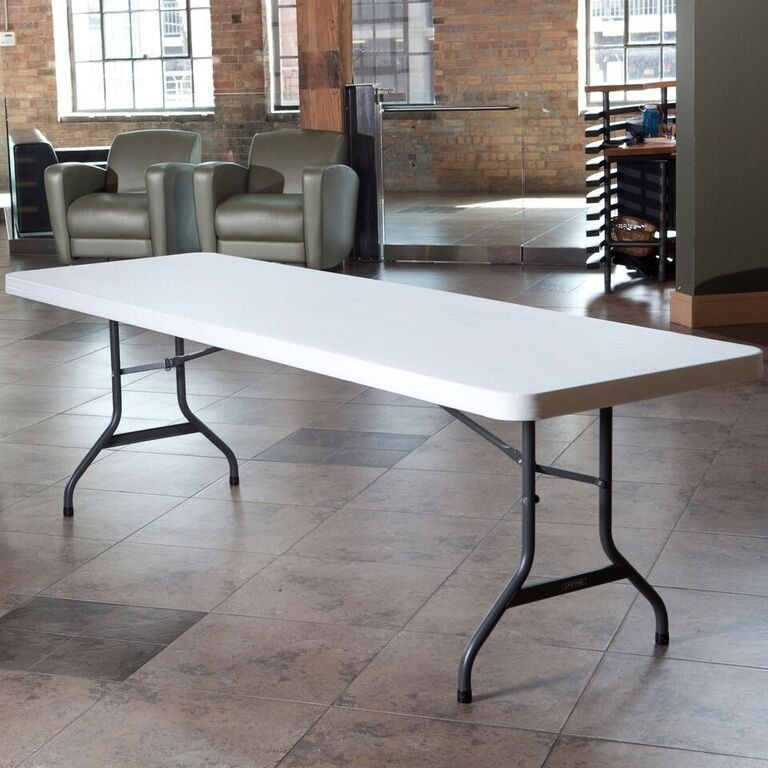 Lifetime 8 Foot Folding Banquet Table White